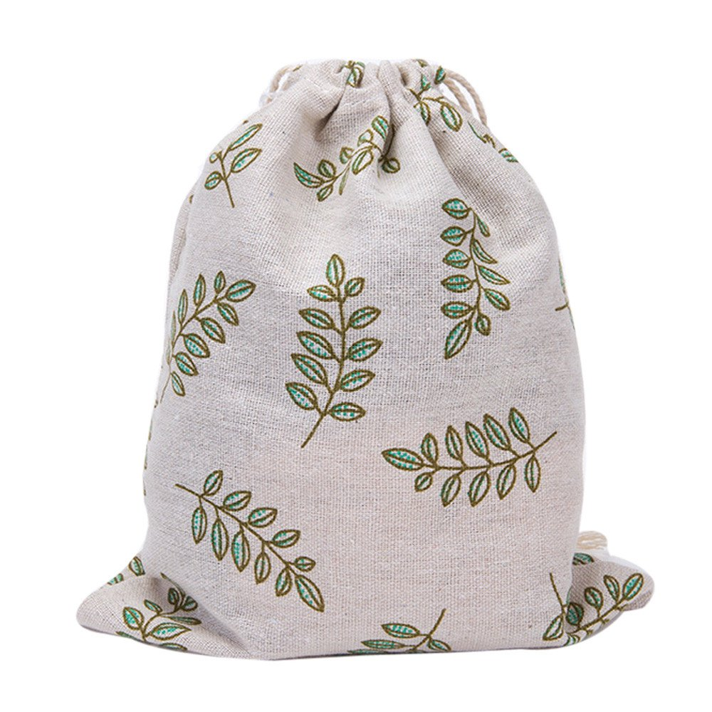 Fashion Printing Bags Drawstring Backpack 3 Sizes,Outsta Unisex Backpacks Drawstring Pouch Packaging Bags Storage Bag (32×25cm(Large), Green)