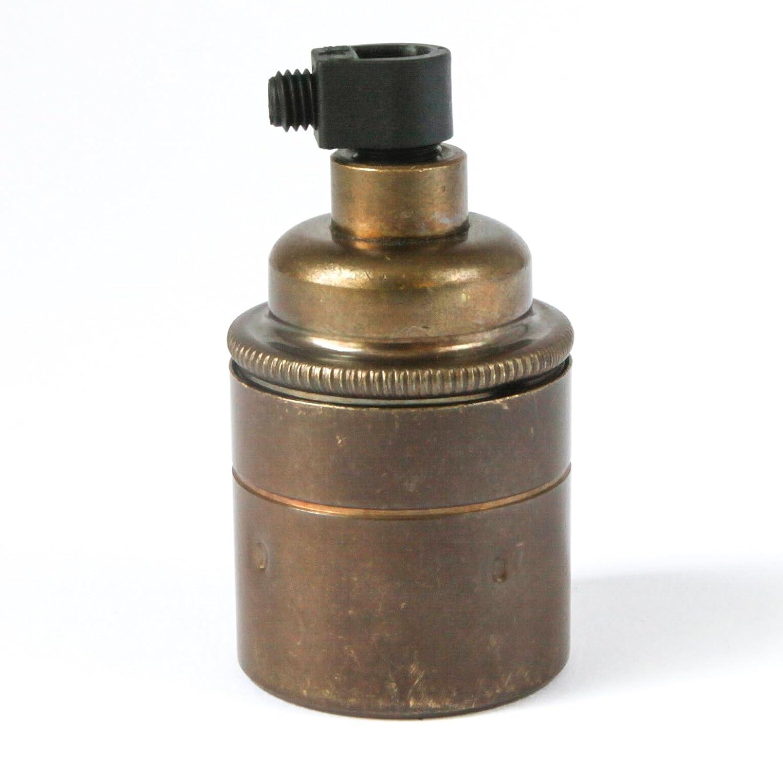 DOUILLE CLOCHE |pour ampoule (e27) à vis | cuivre nu Dowsing & Reynolds