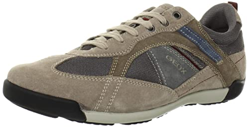 Geox - Zapatillas de running para hombre beige/anthracite 44: Amazon.es: Zapatos y complementos