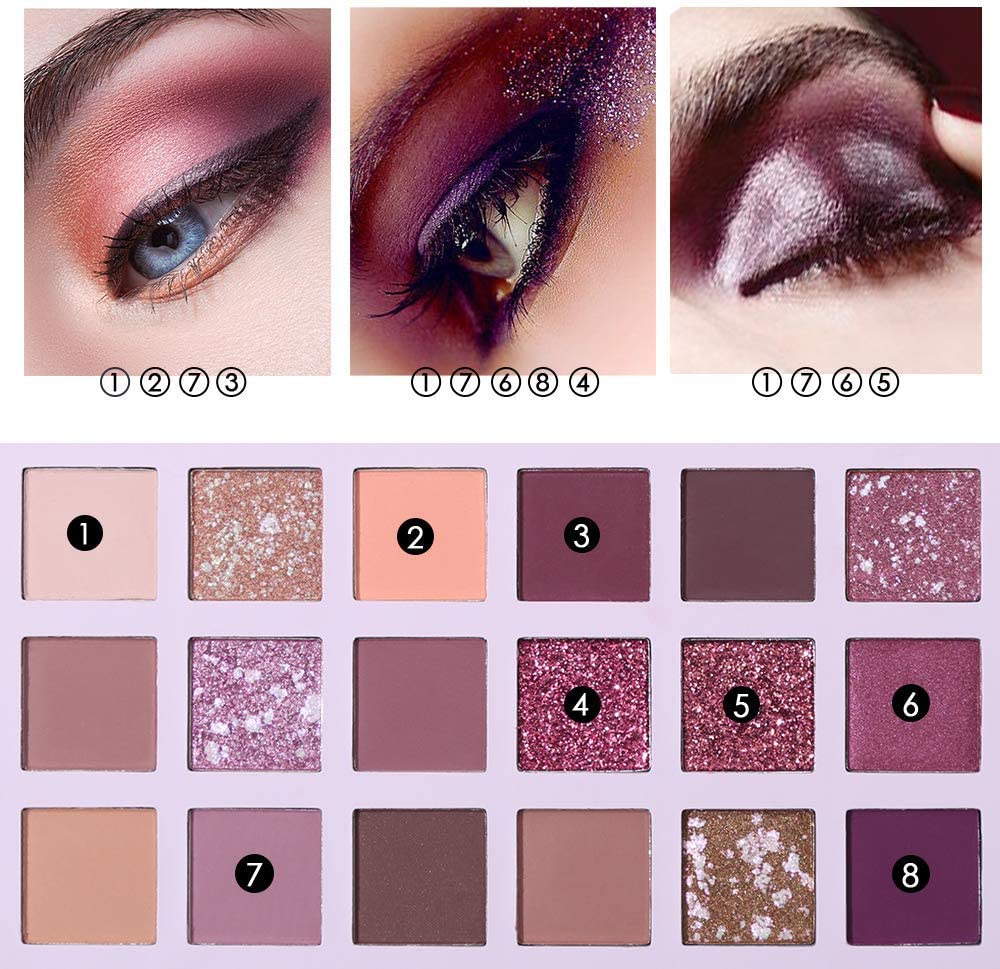Beauty Glazed Paleta de Sombra de Ojos Ucanbe Nuevo