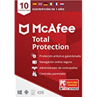 McAfee Total Protection 2020, 10 Dispositivos, 1 Año, Software Antivirus, Seguridad de Internet, Móvil, Control Parental…