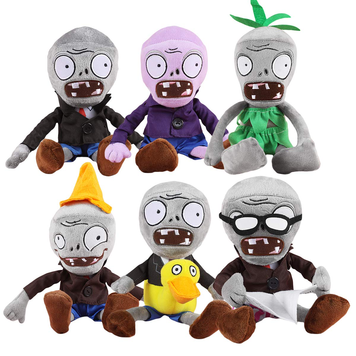 TavasHome Plants vs Zombies Series Stuffed Plush PVZ Toy Set of 6 Pieces Soft Game Doll Funny Gift by TavasHome