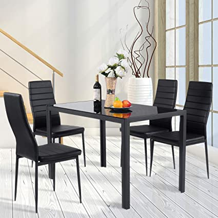 Amazon Com Best Direct Deals 5 Piece Kitchen Dining Set Glass