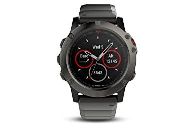 Garmin Fenix 5 X Sapphire   Slate Gray With Metal Band by Garmin