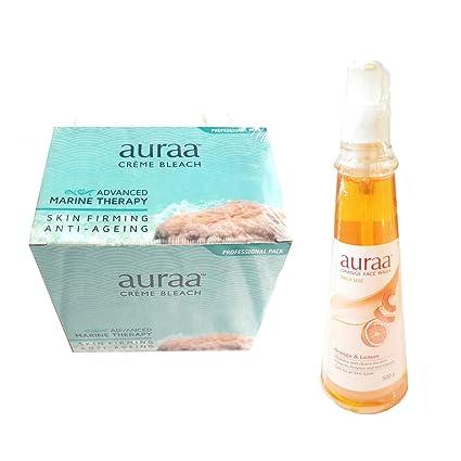Auraa Creme Bleach-Advanced Marine Therapy & Daily Face Wash