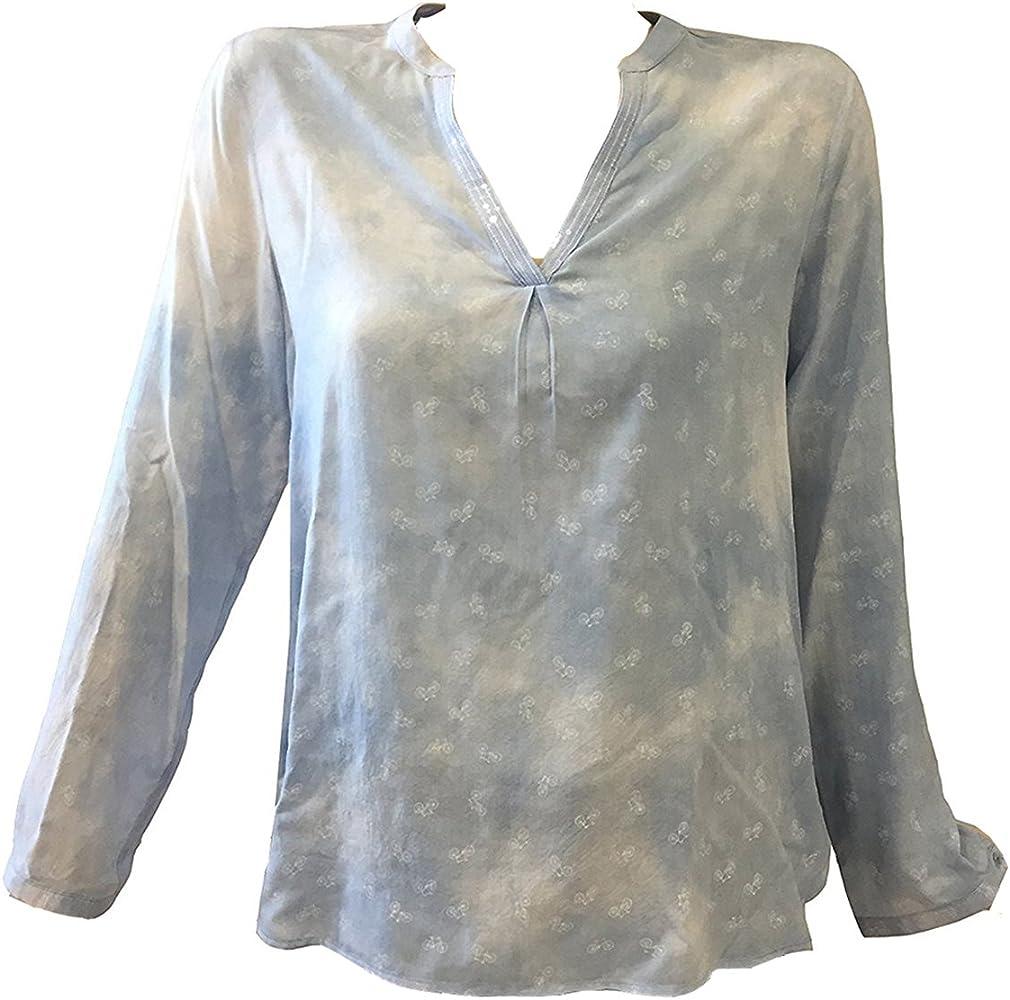 Milano Italy - Camisas - para mujer azul 38: Amazon.es: Ropa y accesorios
