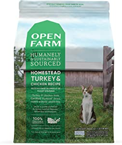 Open Farm Homestead Turkey & Chicken Grain-Free Dry Cat Food, Wild-Caught Fish Recipe with Non-GMO Superfoods and No Artificial Flavors or Preservatives, 8 lbs