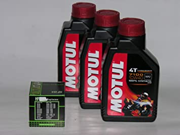 MOTUL 3 LT litros de Aceite 7100 10 W40 + Filtro de Aceite de 100%