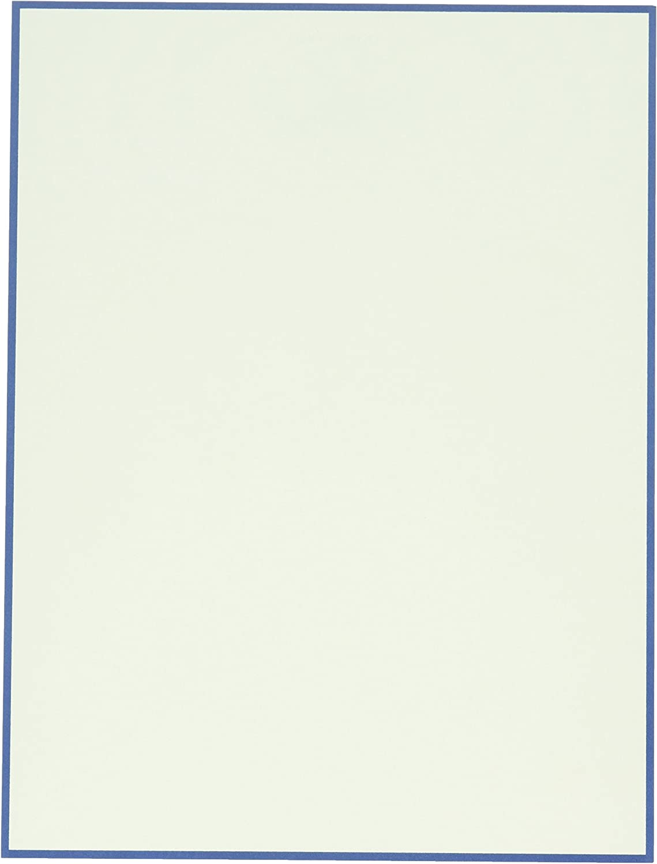 Crane /& Co Regent Blue Bordered Ecruwhite Letter Sheets CH3316