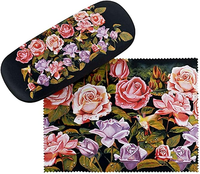 VON LILIENFELD Estuche Gafas Funda Ligeramente Estable Colorido Regalo Mujer Motivo Floral Jardín de rosas: Amazon.es: Ropa y accesorios