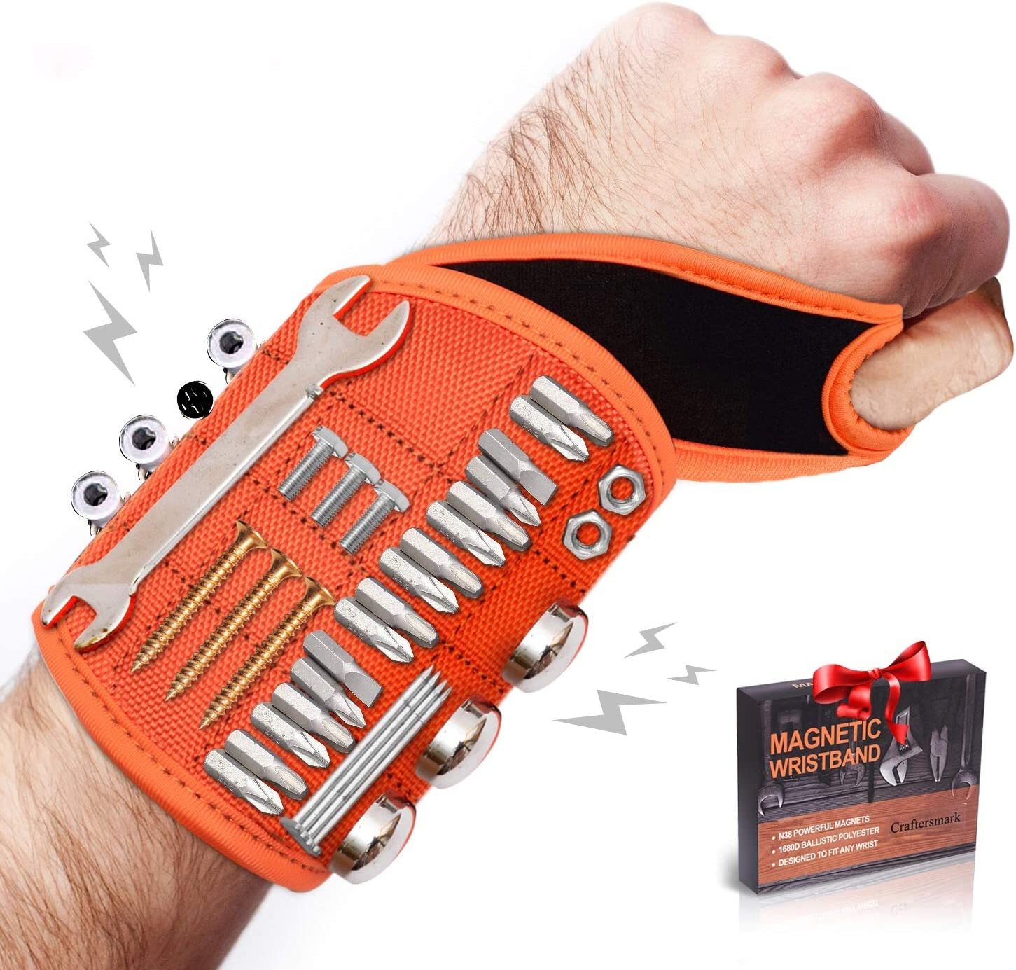 Magnetic Tool Wristband With Wrist Support Design