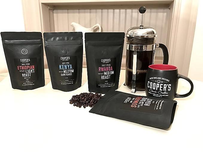 Coopers Cask Coffee Café 4 bolsa, tueste medio de origen ...