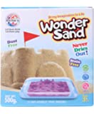 RATNA'S Wonder Sand 500 Grams with A Tray for Play. Smooth Sand for Kids (Brown 500 Grams)