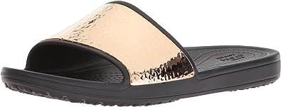 Crocs Damen Sport Freizeit Badelatschen Women/'s Crocs Sloane Slide schwarz weiss