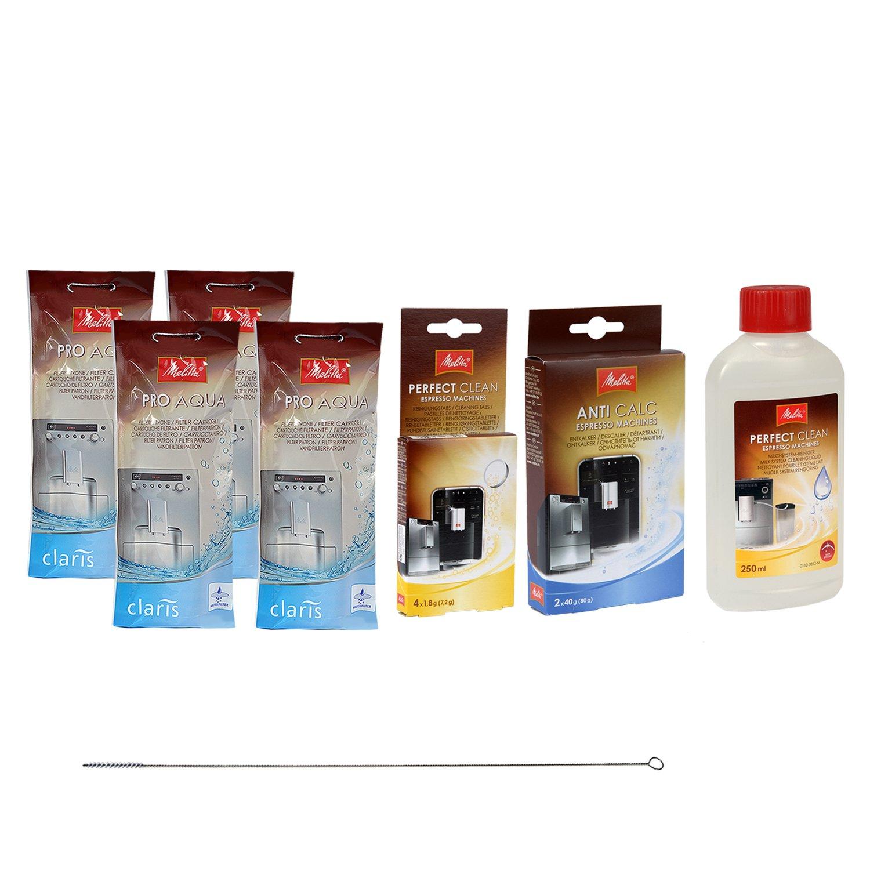 QUVIDO Reinigungsbürste 4 x MELITTA Filterpatrone CLARIS PRO AQUA