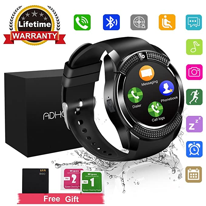 83 opinioni per Smart Watch Phone Touchscreen,Bluetooth Smartwatch con Camera,Smart