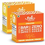 EAT Anytime Healthy Granola Bars Combo Snack Pack of 12 (6 Butterscotch + 6 Orange)