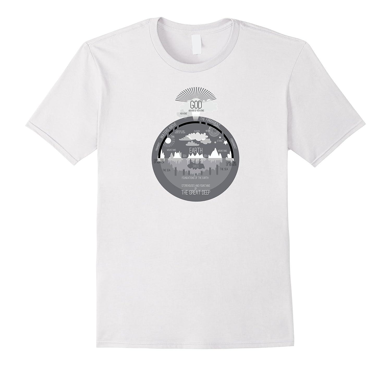 Ancient Hebrew Universe – Flat Earth Firmament T-Shirt
