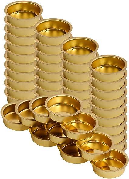Tealight Holder Brass Plate Insert Ø 40mm h:18mm Tealight Grommet Metal