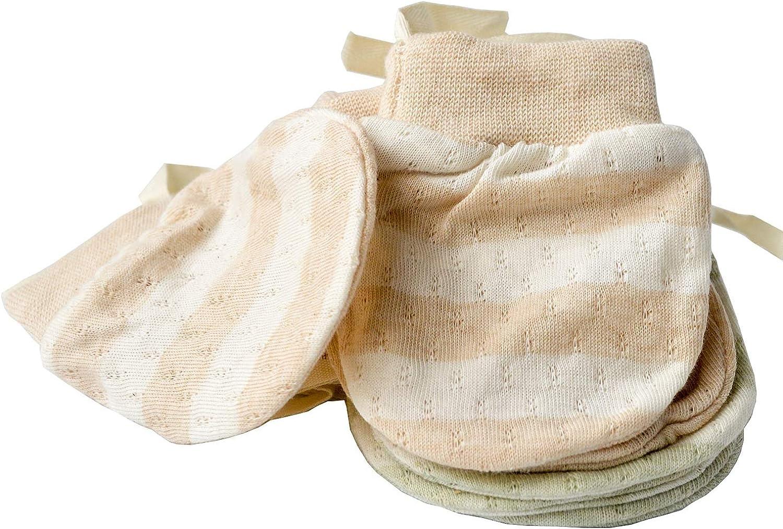gants en coton bio respirant pour b/éb/é 0-6 mois Moufles de nouveau-n/é ultra fines sans rayures