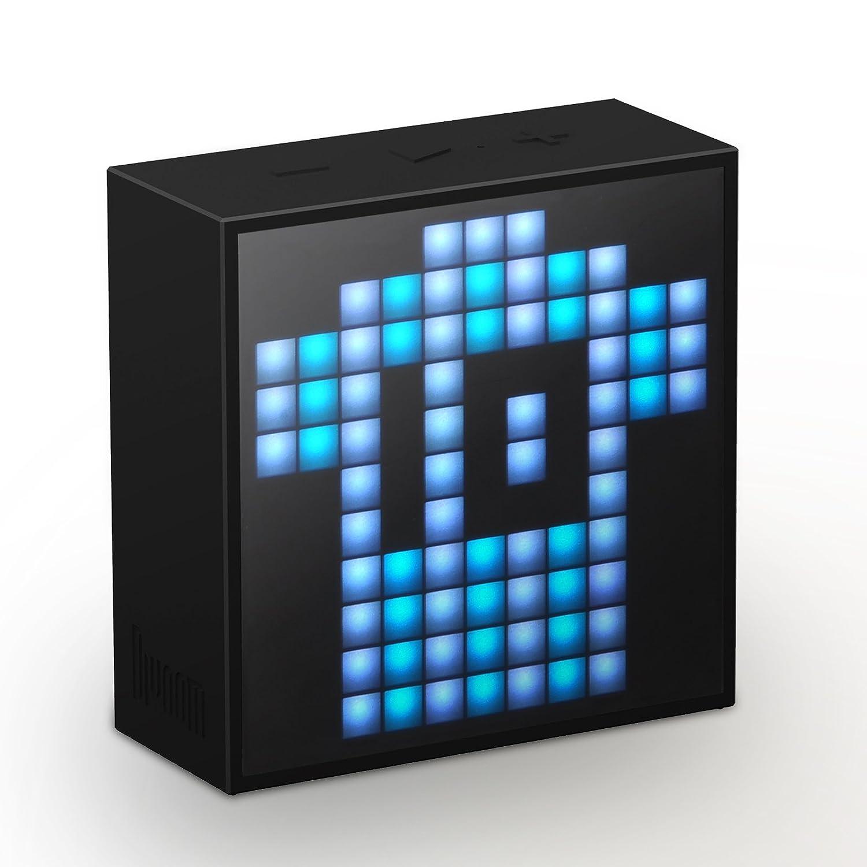 Divoom Timiebox-Mini - Haut-parleur Bluetooth avec affichage à LED, noir