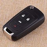 Key Shell - 4 Buttons Uncut Folding Fob Remote Key Shell Case 13500222 for Cruze Malibu Camaro Equinox Sonic 2013 2014…