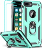 iPhone 8 Plus Case, iPhone 7 Plus Case, iPhone 6 Plus Case with Tempered Glass Screen Protector [2Pack], LeYi Military…