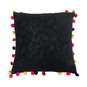 Amazon.com: Embossed indio almohada cuadrada para cojín ...