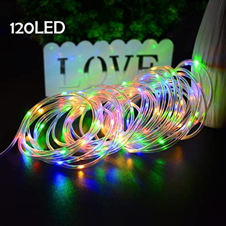 christmas rope lighting. Lalapao Christmas Rope Lights 120 LED Battery Operated Xmas Fairy String Waterproof Outdoor Decorations Lighting