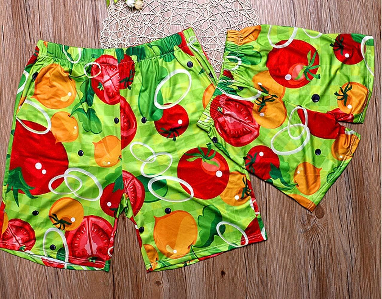 Family Tropical Fruit Swimsuit Summer dad mom Son Daughter Swim Trunks