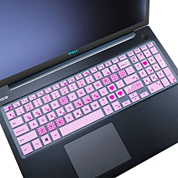 Hot Pink Keyboard Cover Compatible Dell Inspiron 15 3000 5000 7000 Series//Dell Inspiron 17 5000 3000Series //Dell G3 15 17 Series//Dell G5 15 Series//Dell G7 15 17 Series