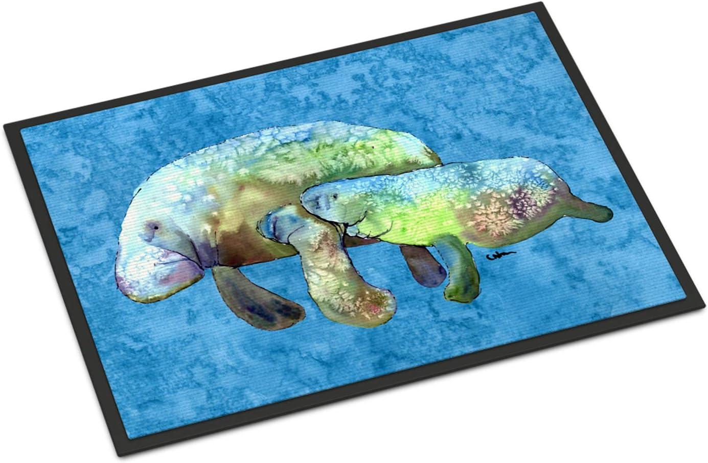 Caroline s Treasures 8660-JMAT Manatee Indoor or Outdoor Mat 24×36 8660 Doormat, 24H X 36W, Multicolor