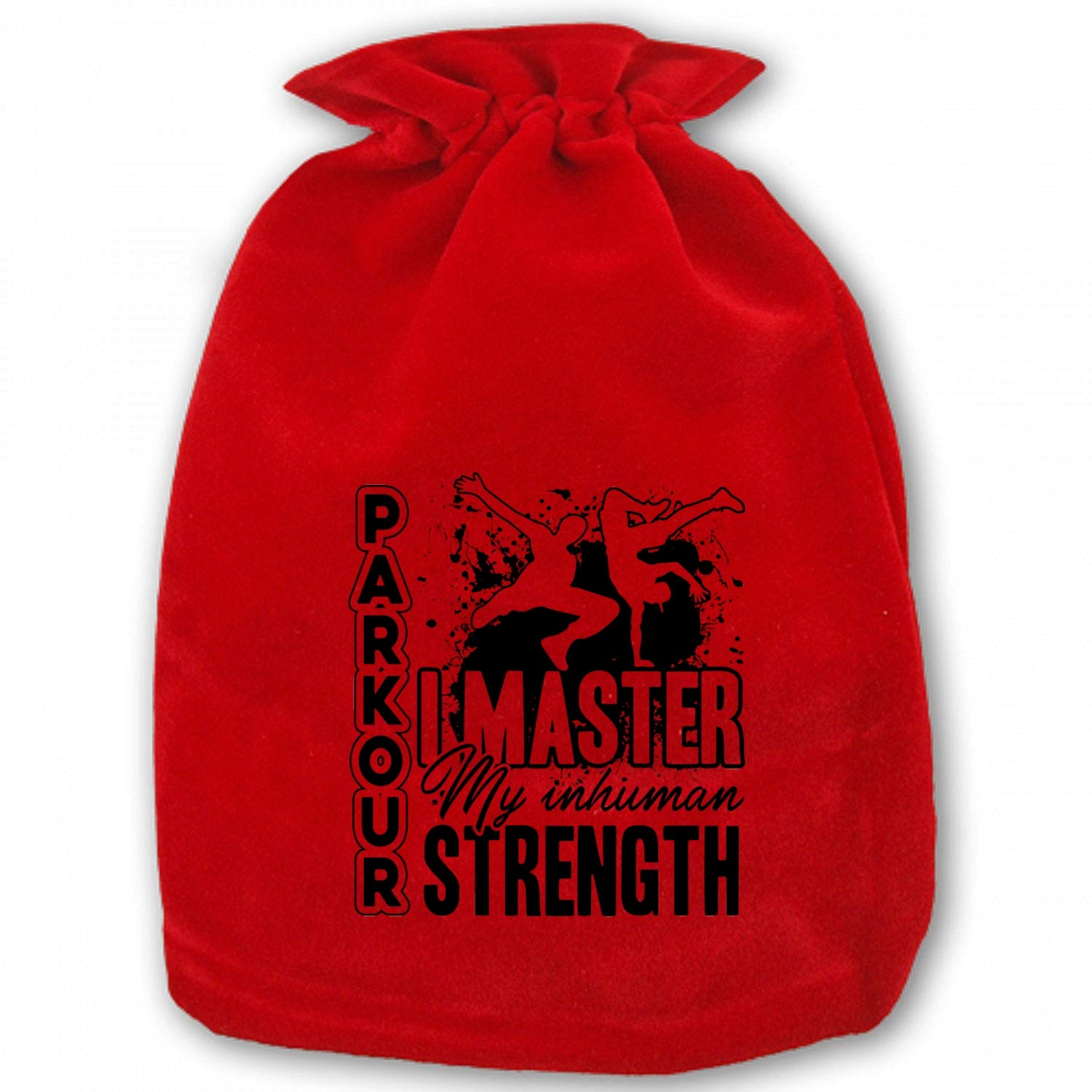 Parkour Master Drawstring Bags for Christmas Party Favors Treats