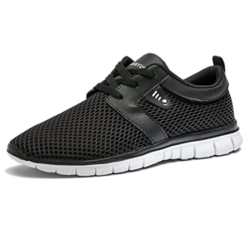 f517a4d8fd Tianui Walking Shoes Men Women Fashion Breathable Sneakers Casual Athletic  Lightweight Outdoor Sports Shoes Black