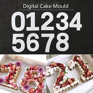 Molde para tartas con número grande de 0 a 8 números, herramienta de horneado para