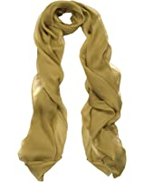 SILK - Light Olive Green Luxurious Pure Crepe Chiffon Silk Scarves...feel good in silk