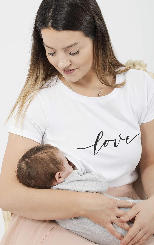 XXL Breastfeeding top 100/% Cotton Breastfeeding top UK 8-10 Sizes XS Milky Tee/® Plain Grey Breastfeeding T-Shirt with Hidden zips Award-Winning Nursing Tops Small Oeko-TEX certfied
