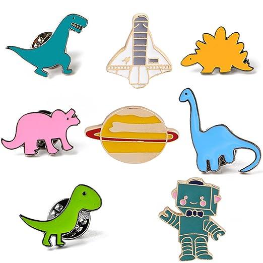Image of: Isolated Image Unavailable Amazoncom Amazoncom Joinlove Cute Cartoon Brooch Pins Enamel Dinosaur