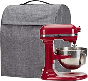 HOMEST Stand Mixer Dust Cover with Pockets Compatible with KitchenAid Tilt Head 4.5-5 Quart, Grey (Patent Pending)
