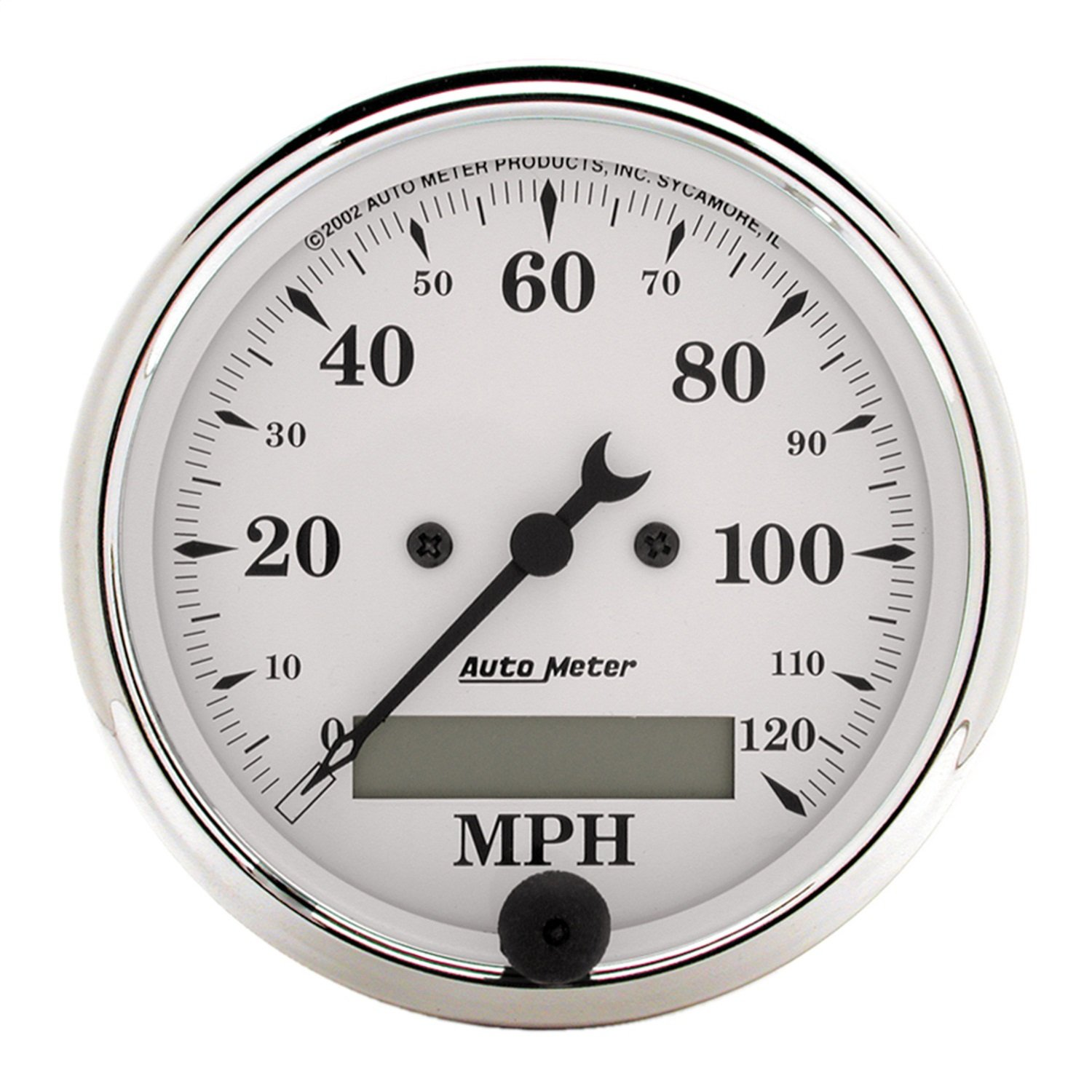 AUTO METER 1688 Old TYME White Electric Programmable Speedometer by AUTO METER