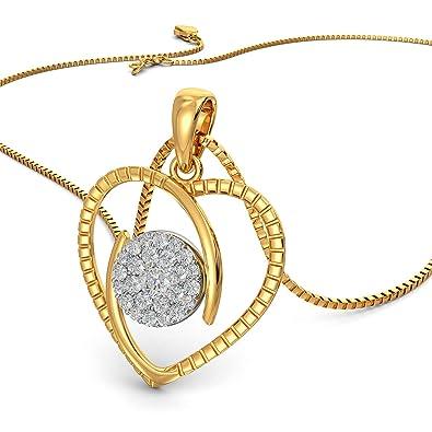 Joyalukkas 18KT Yellow Gold and Diamond Pendant for Girls Women