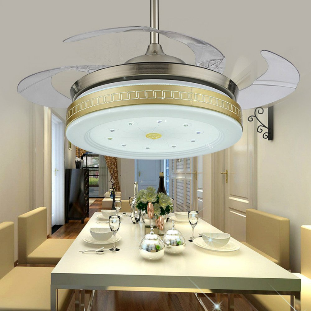 Lighting groups invisible ceiling fan lamp 42 inch led fan