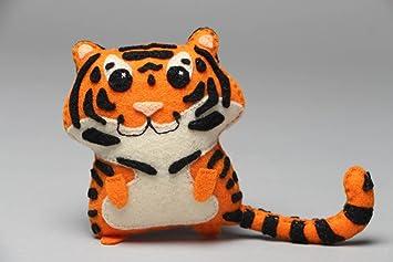 Juguete de fieltro tigre gracioso y bondadoso