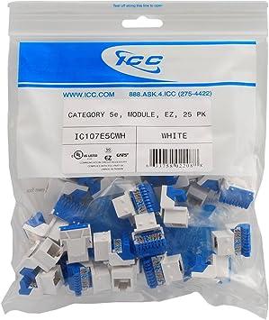 [QNCB_7524]  Amazon.com: ICC CAT5e RJ45 Keystone Jack for EZ Style, White, 25-Pack:  Electronics   Icc Jack Wiring Diagram      Amazon.com