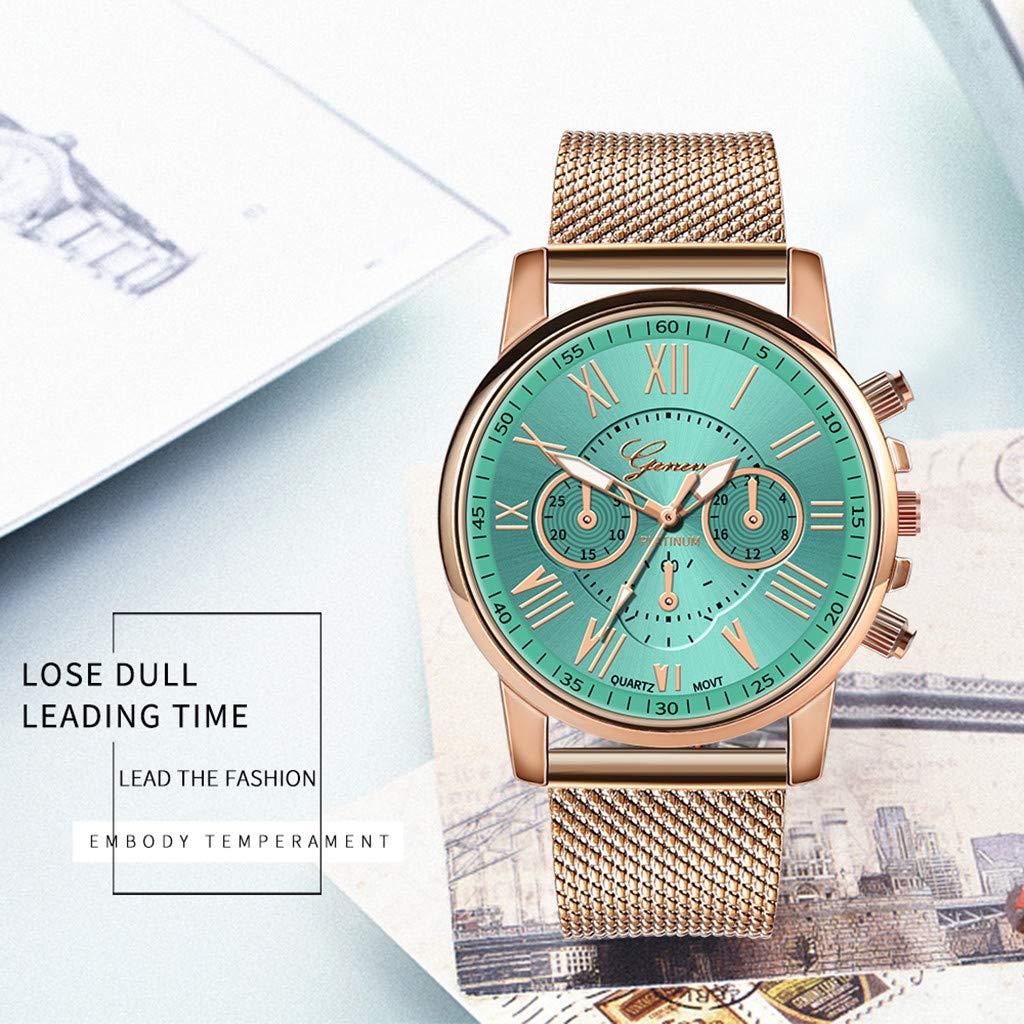 BBestseller Relojes Mujeres,Moda Accesorios Cuarzo Acero Inoxidable Relojes Fecha Reloj de Pulsera Casual Simple para Mujer (Verde): Amazon.es: Relojes