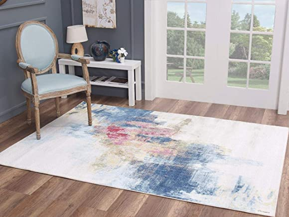 LUXE WEAVERS Kingsbury Abstract Premium 5×7 Area Rug 8722
