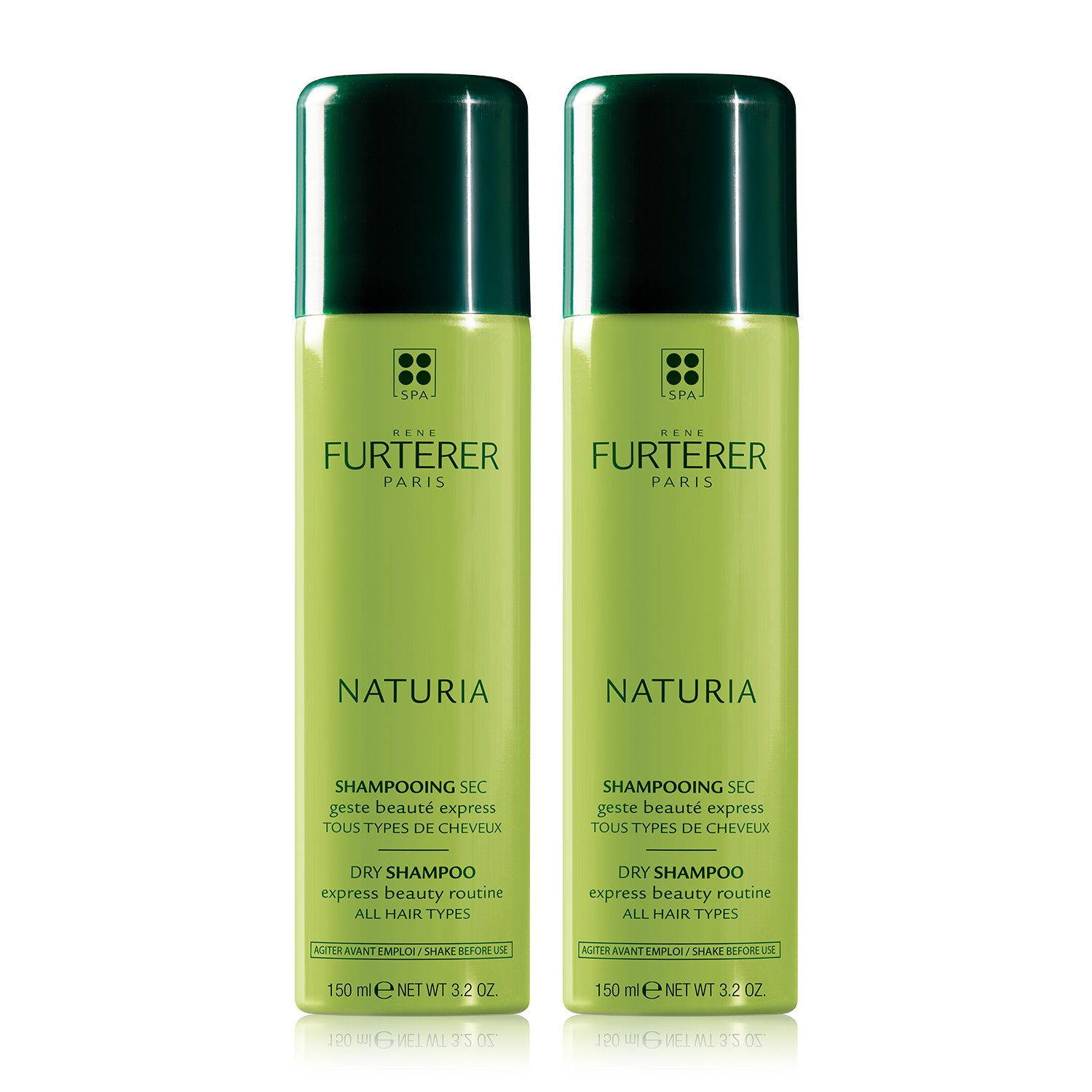 Rene Furterer NATURIA Dry Shampoo Duo, Oil-Absorbing, Clay, Beige Tint, Set of 2, 6.4 Fl Oz by Rene Furterer