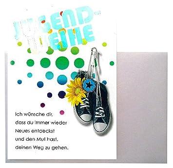 Jugendweihe Karte Schreiben.Depesche Glückwunschkarte Jugendweihe Karte Geldgeschenk Grußkarte Bunt Schuhe