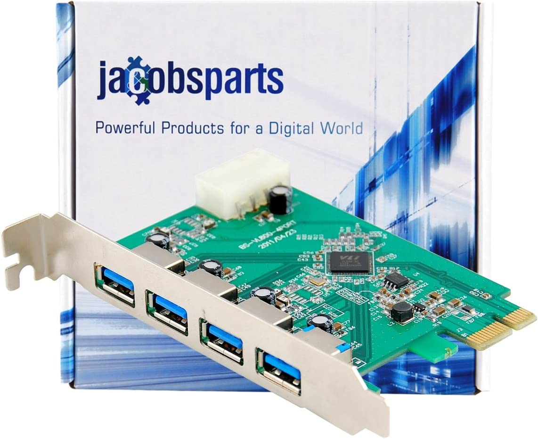 Host Controller Card JacobsParts Protronix 4-Port USB 3.0 PCI Express PCIe