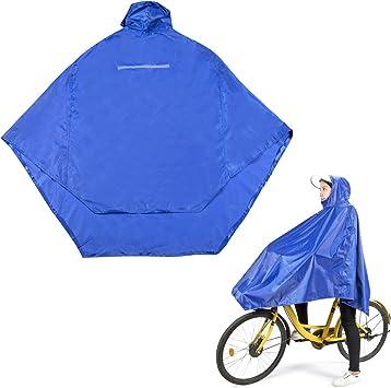Efantur Lluvia Poncho Bicicleta Chubasquero con Capucha Lluvia ...